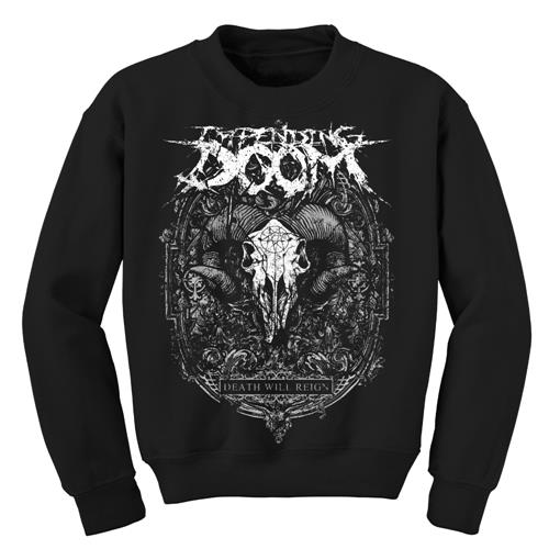 Ram Skull Black Crewneck Sweatshirt