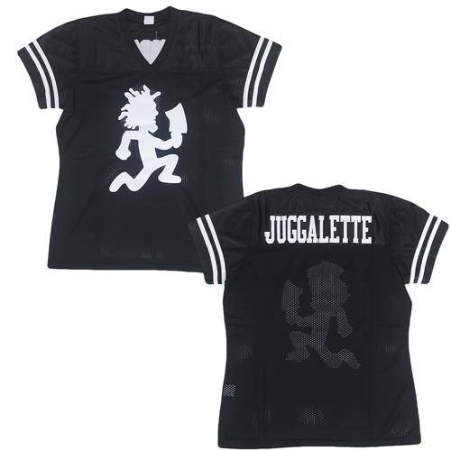 Juggalette Ladies Cut Black Football Jersey