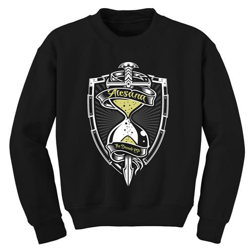 Hourglass Black Crewneck Sweatshirt