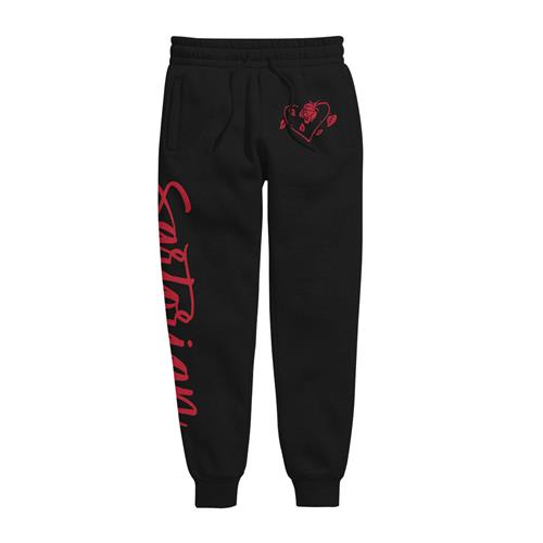 Rose Heart Black Jogger