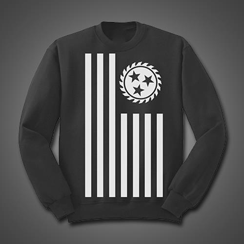 Simple Flag Black Crewneck