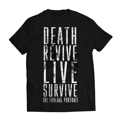 The Funeral Portrait Death Revive Live Survive Black T-Shirt