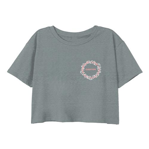 Wreath Heather Grey Crop Top