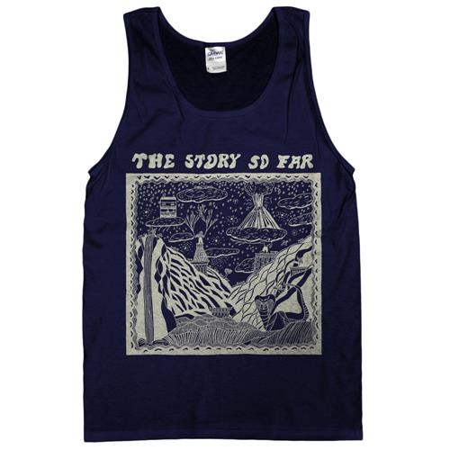 Album Art Navy Tank Top