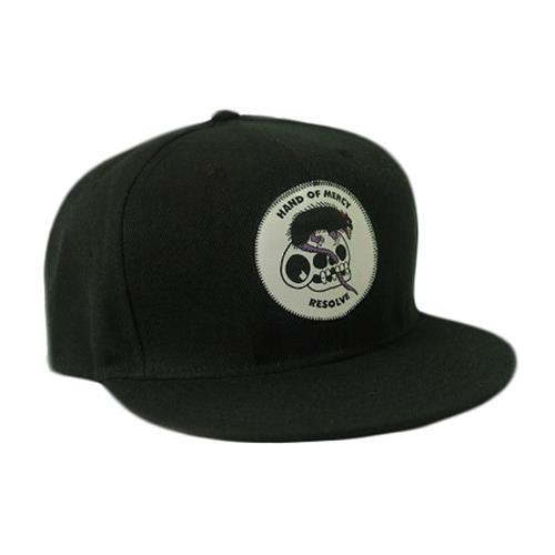 Skull Rat Black Snapback Hat