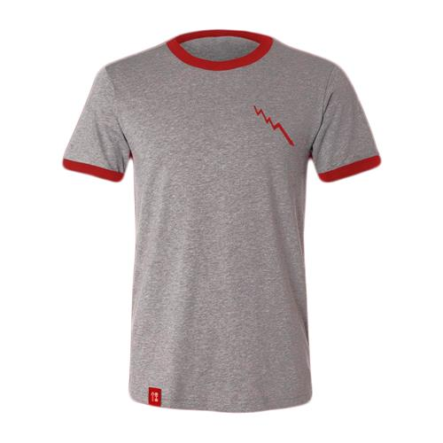 Bolt Grey With Red  W/ Hem Tag