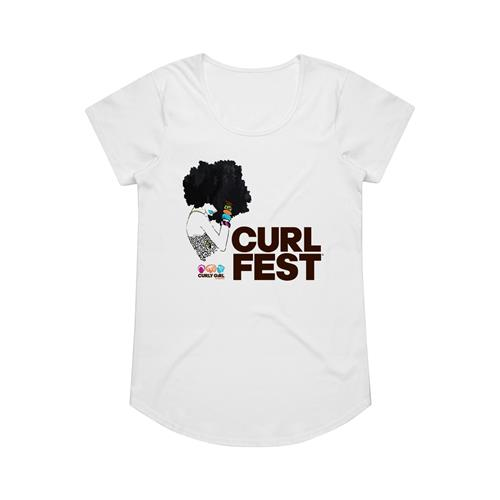 Afro Doll White Girl's T-Shirt