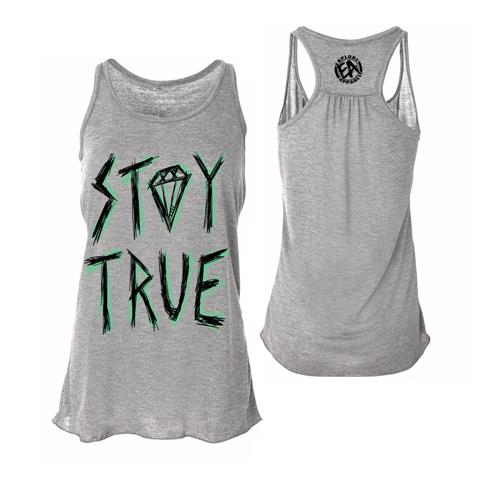 Stay True Scratch Athletic Heather Girl's Flowy Tank Top