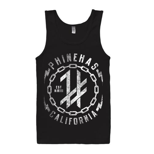 Chain Logo Black Tank Top