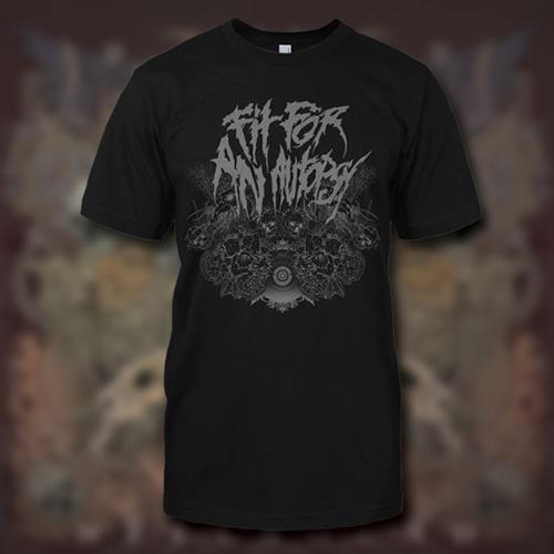 Fit For An Autopsy -Skulls Black T-Shirt