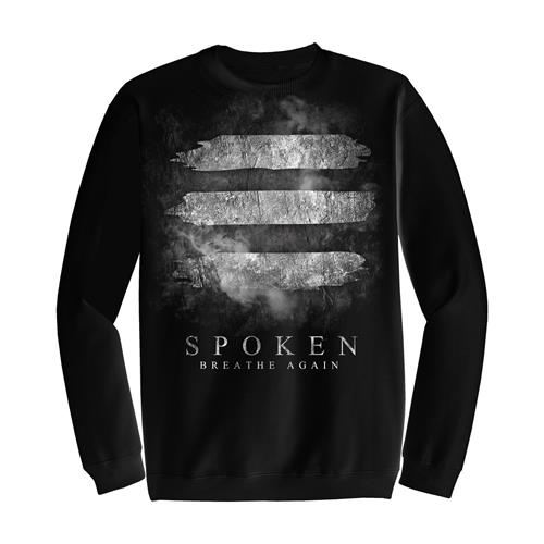 Spoken Smoke Lines Black Crewneck