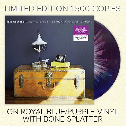 Maybe This Place Is The Same... Royal Blue/Purple W/ Bone Splatter Vinyl