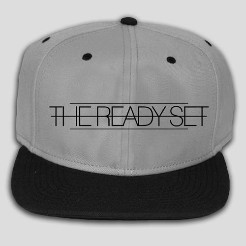 Black Logo Charcoal Snap-Back Hat