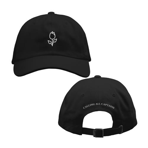 Rose Black Dad Hat