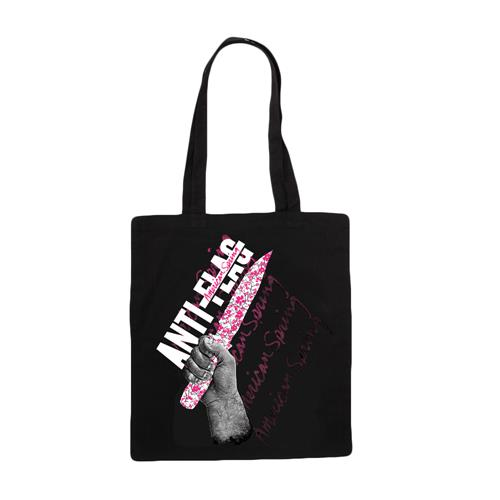 Knife Black Tote Bag