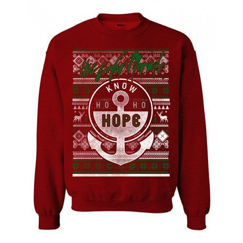 Know Ho Ho Hope Heather Red Crewneck