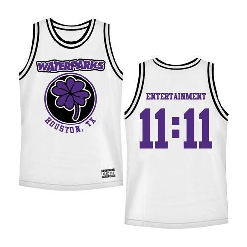 Clover White/Black Basketball Jersey