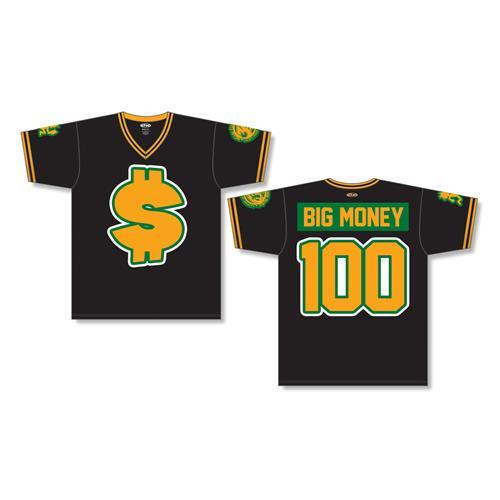 Big Money Hustlas Black-Gold Pullover Baseball