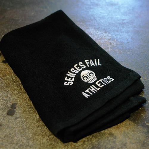 Athletics Black Embroidered Sports Hand Towel