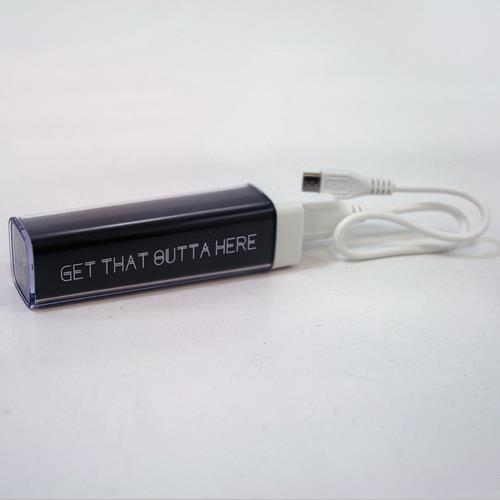 Get That Outta Here Black Portable Charger