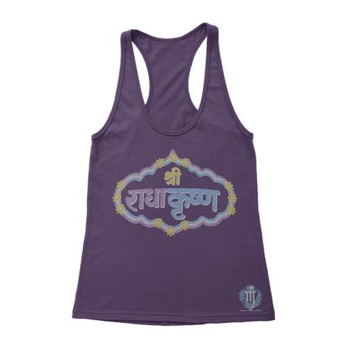 Mantralogy Bhaktifest Logo Vintage Purple Women's Racerback
