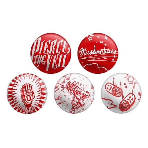 Misadventures  5 Set Button Set