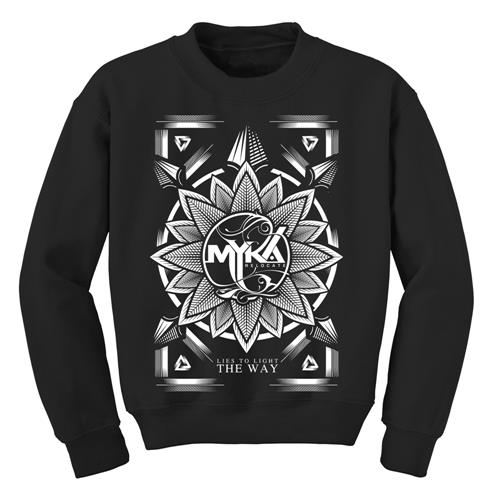 Flower Black Crewneck Sweatshirt
