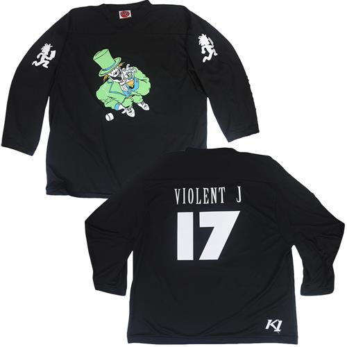 Violent J 17 Black Hockey Jersey