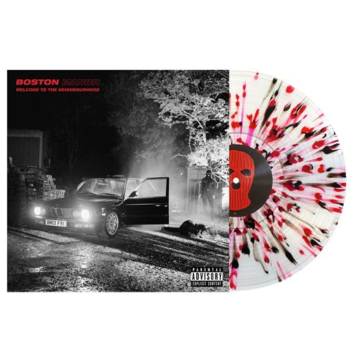 Welcome To The Neighbourhood Clear W/ Black & Red Splatter