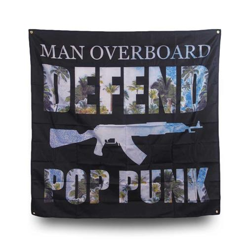 Defend Pop Punk Palm Tree Banner Wall Flag