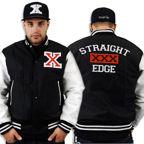 Straight Edge Varsity Black/White