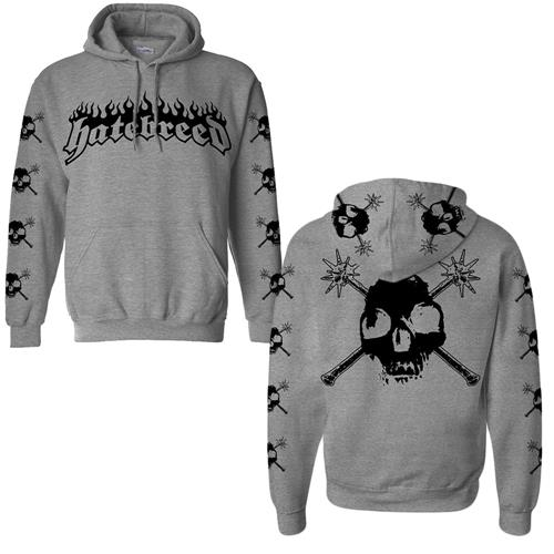 Skulls All Over Heather Grey