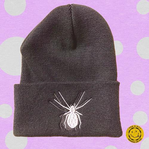Spider Embroidered Black