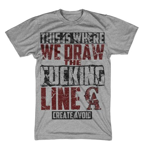 Draw The Line Heather Gray Sale! Final Print!