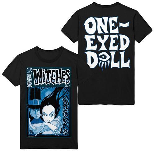 Afflicted (Blue Comic) Charcoal T-Shirt
