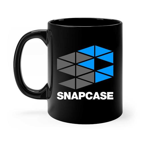 Two-Color Logo Black Coffee Mug