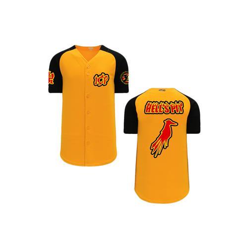 Hell's Pit Crow (Red) Orange/Black Baseball