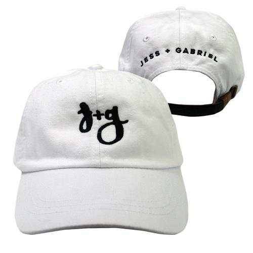 Jess And Gabriel Logo White Dad Hat