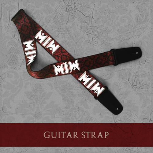 logo guitar strap fear merchnow your favorite band merch music and more. Black Bedroom Furniture Sets. Home Design Ideas