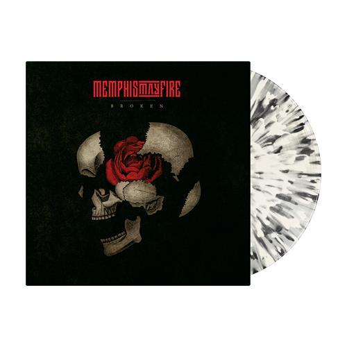 Broken Clear w/ Bone and Black Splatter LP