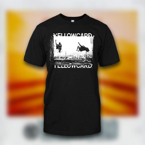 Yellowcard - Live Photo Black T-Shirt