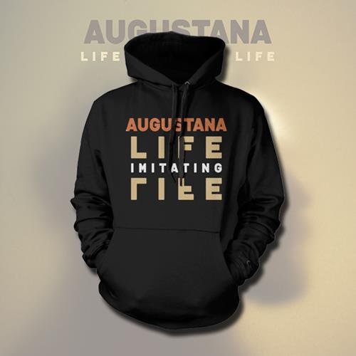 Life Imitating Life Black Hooded Pullover