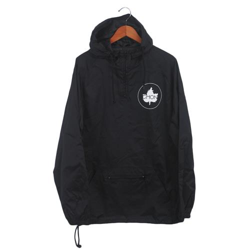 Leaf Black Windbreaker