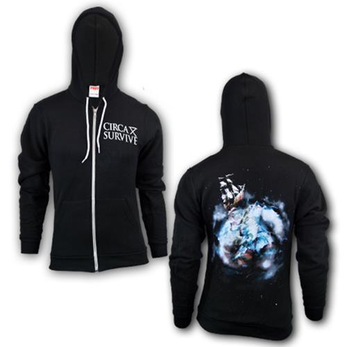Violent Waves Black Zip-Up Sweatshirt