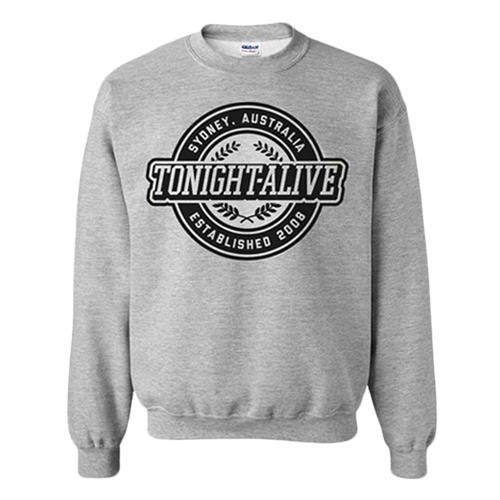 Crest Heather Grey Crewneck Sweatshirt
