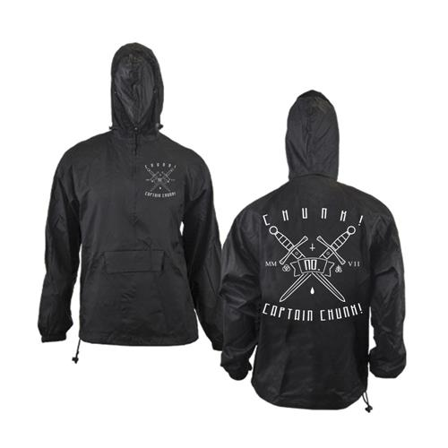 Swords Black Windbreaker