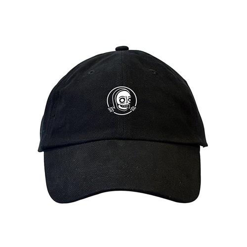 Circle Skeleton Black Dad Hat
