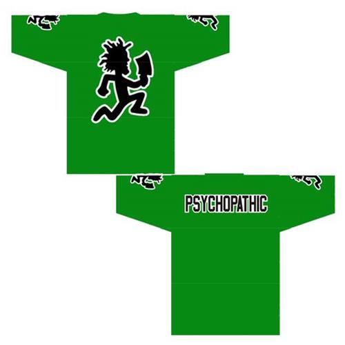 Hatchetman Psychopathic Green Football Jersey