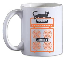 Black Cat White Coffee Mug