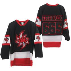 Fite Back 665 Black/White/Red Hockey